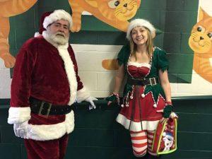 Santa visits Harleton ISD 2016